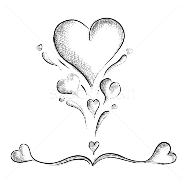 Corações isolado branco casamento abstrato assinar Foto stock © vlastas