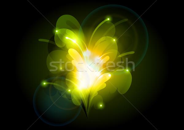 зеленый темно дизайна искусства Сток-фото © vlastas