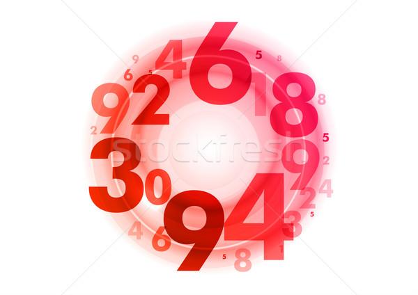 Cirkel nummers abstract Rood financieren bank Stockfoto © vlastas