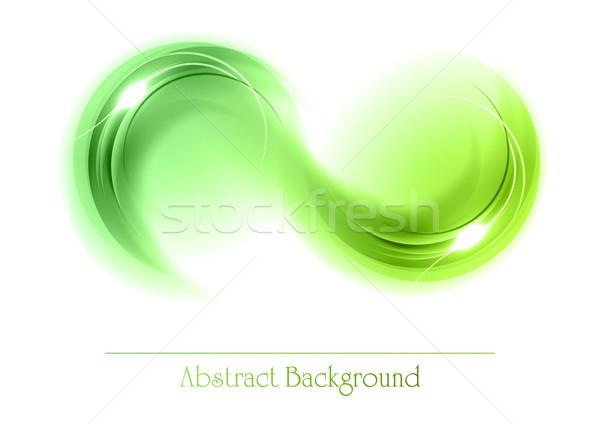 зеленый аннотация объекты Круги белый искусства Сток-фото © vlastas