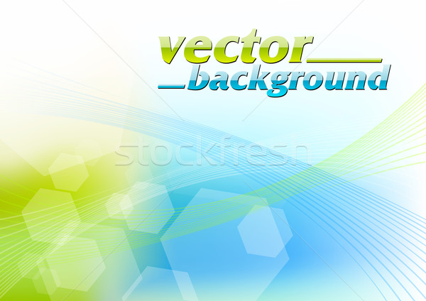 Groene Blauw abstract licht ontwerp schoonheid Stockfoto © vlastas