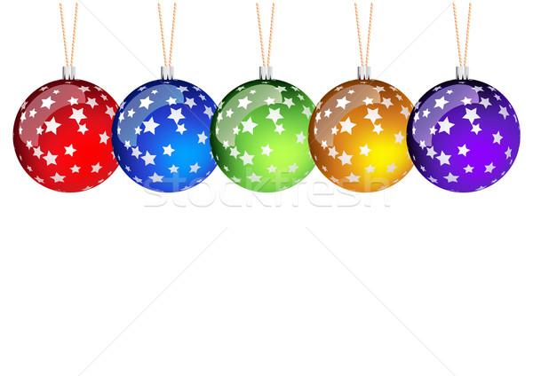 christmass balls Stock photo © vlastas