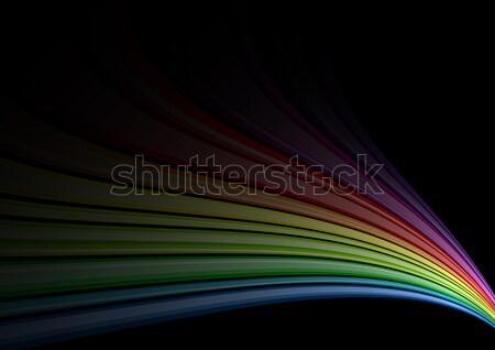 радуга черный текстуры свет дизайна фон Сток-фото © vlastas