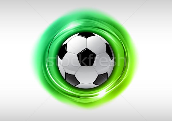 футбола аннотация зеленый Футбол свет искусства Сток-фото © vlastas