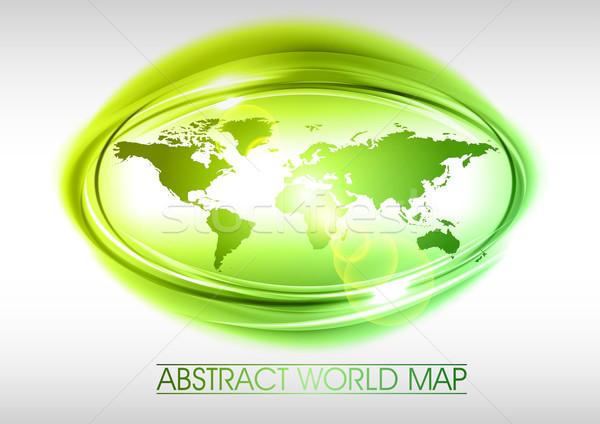 緑 世界 抽象的な サークル 地図 デザイン ストックフォト © vlastas
