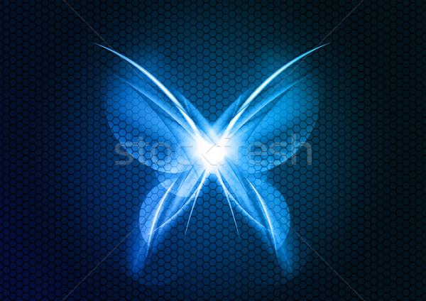 抽象的な 蝶 暗い テクスチャ 春 デザイン ストックフォト © vlastas