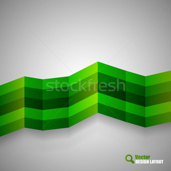 Foto d'archivio: Verde · moderno · design · layout · vettore