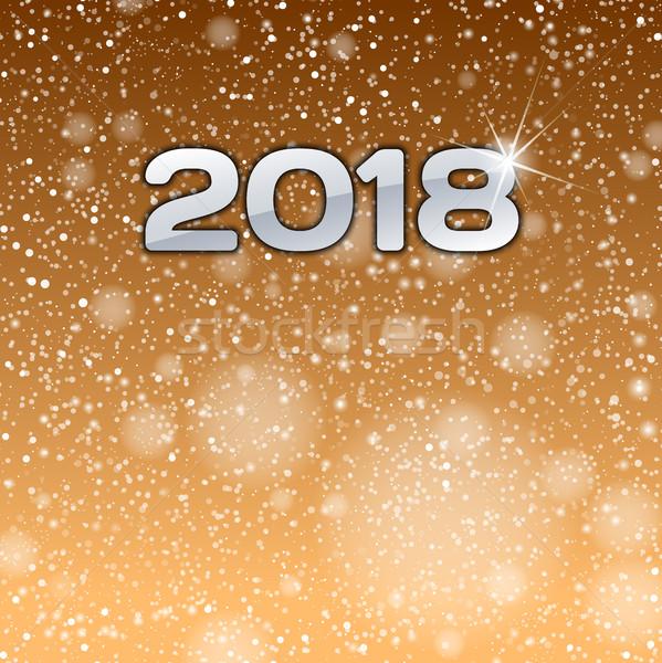 золото шоу номера Новый год символ счастливым Сток-фото © vlastas