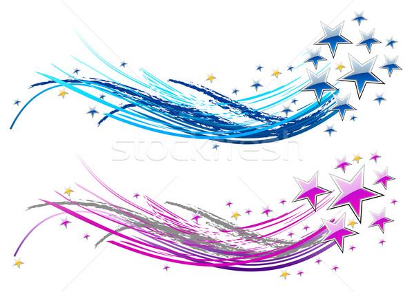 звезды два аннотация звездой белый взрыв Сток-фото © vlastas