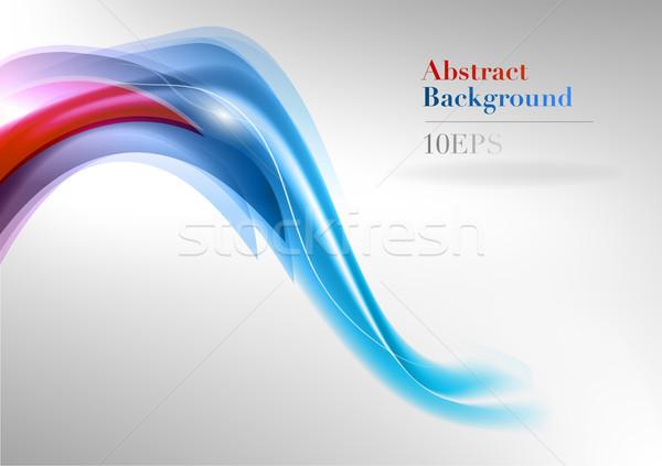 Pourpre bleu résumé forme abstraite art espace Photo stock © vlastas