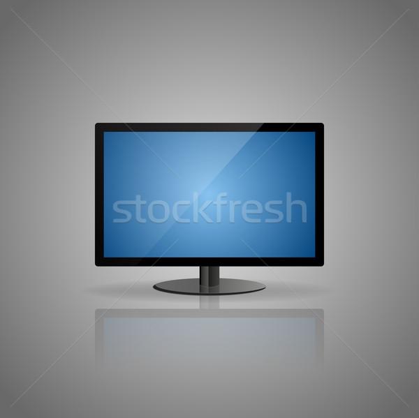 Blauw display grijs abstract achtergrond ruimte Stockfoto © vlastas