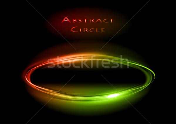 темно круга красный зеленый компьютер пространстве Сток-фото © vlastas