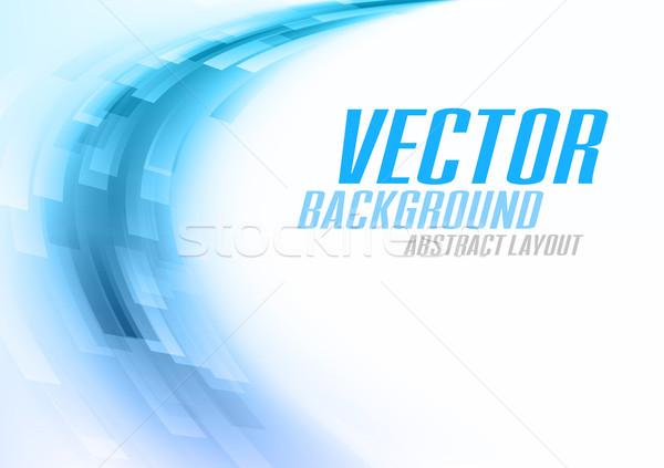 синий голубой вектора аннотация фон Сток-фото © vlastas