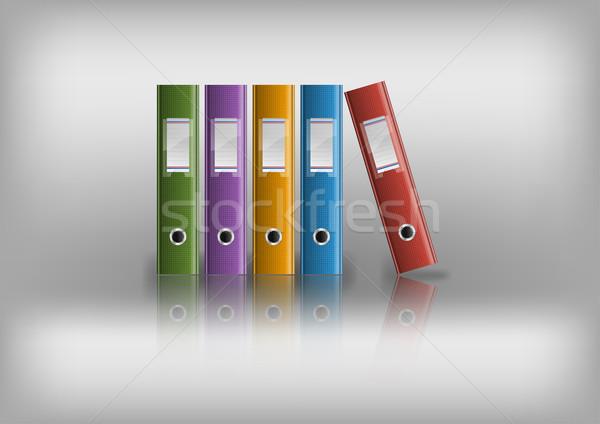 Kantoor bestanden grijs business boek achtergrond Stockfoto © vlastas