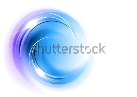 抽象的な 青 飾り 白 芸術 スペース ストックフォト © vlastas