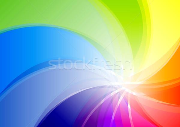 радуга аннотация фон зеленый красный цвета Сток-фото © vlastas