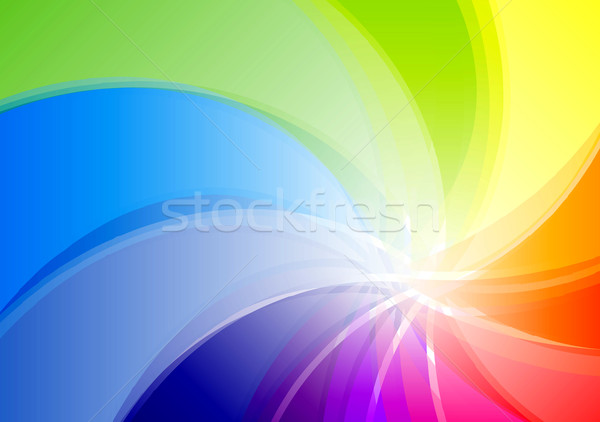 Regenboog abstract achtergrond groene Rood kleur Stockfoto © vlastas