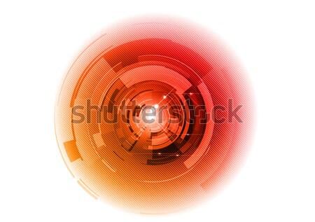 аннотация оранжевый Круги белый дизайна фон Сток-фото © vlastas