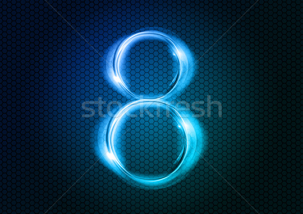 аннотация восемь числа большой численный синий Сток-фото © vlastas