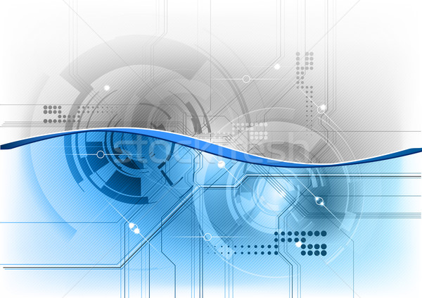 Tech синий волна компьютер интернет фон Сток-фото © vlastas