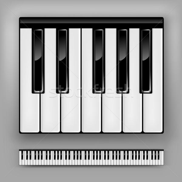 фортепиано клавиатура вектора один полный дизайна Сток-фото © vlastas