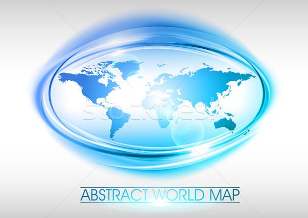 синий Мир аннотация карта дизайна фон Сток-фото © vlastas
