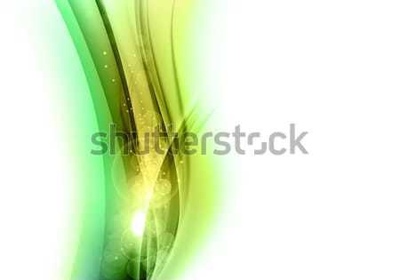 Groene vorm abstracte vorm witte kunst ruimte Stockfoto © vlastas
