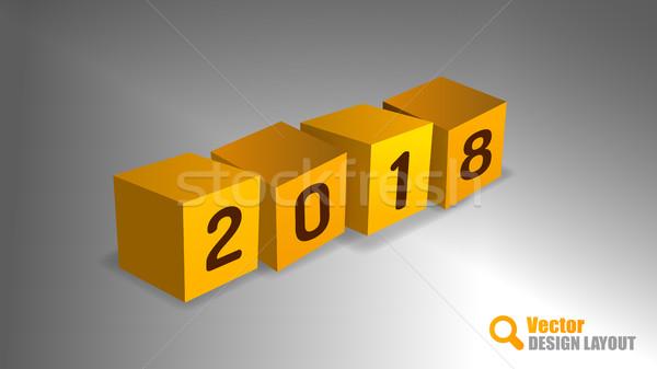 2018 PF Cubes Stock photo © vlastas
