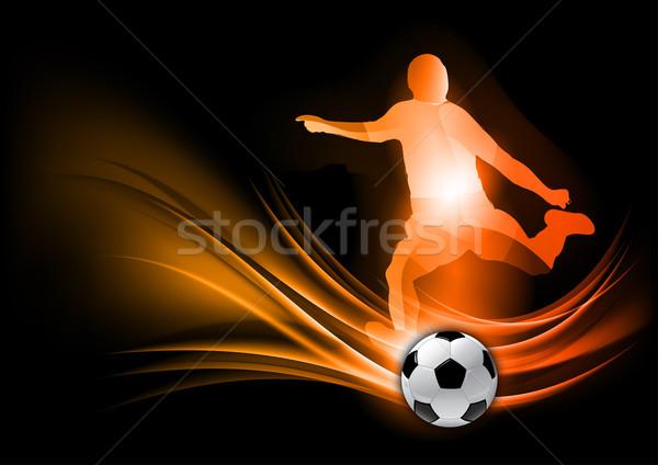 Voetballer abstract sport voetbal achtergrond kunst Stockfoto © vlastas