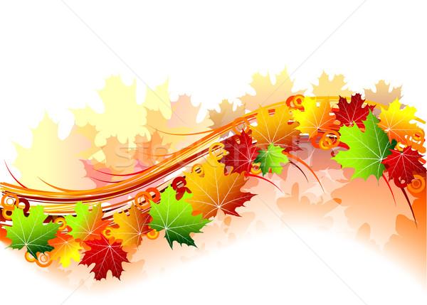 Foto stock: Outono · natureza · folha · arte · vermelho · papel · de · parede