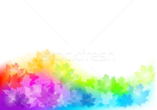 Najaar vol kleur textuur achtergrond oranje Stockfoto © vlastas