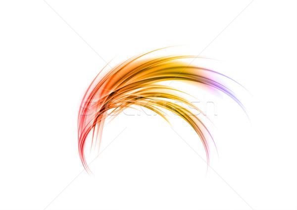 Forma abstrata branco arte laranja espaço quente Foto stock © vlastas
