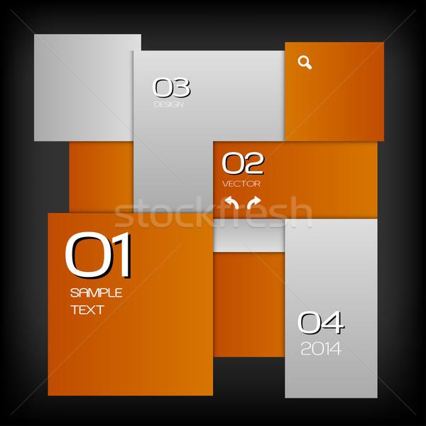 Oranje lay-out pleinen zwarte ruimte vector Stockfoto © vlastas