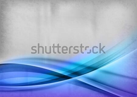 Blauw lijnen golf grijs kunst ruimte Stockfoto © vlastas