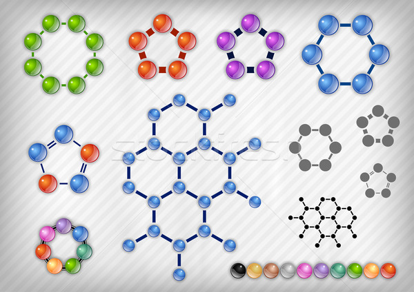 Chemik zestaw szary medycznych niebieski chemia Zdjęcia stock © vlastas
