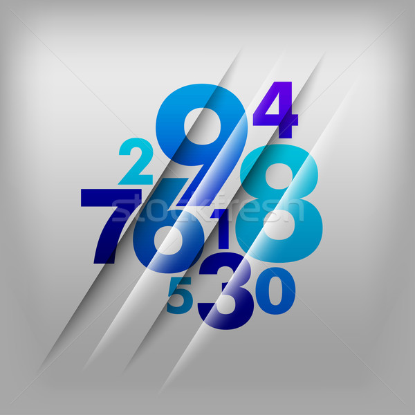 Numbers Background Stock photo © vlastas