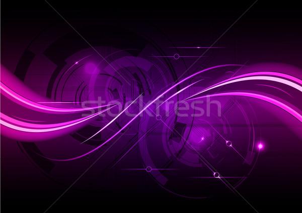 Purple аннотация волна интернет фон пространстве Сток-фото © vlastas