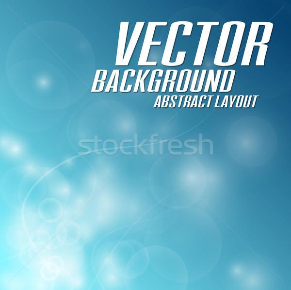 Bleu vecteur résumé fond espace Photo stock © vlastas