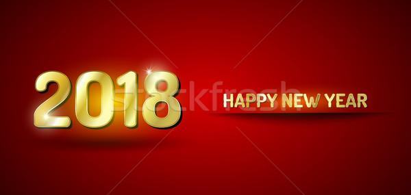 明けましておめでとうございます 赤 金 カード ベクトル ストックフォト © vlastas
