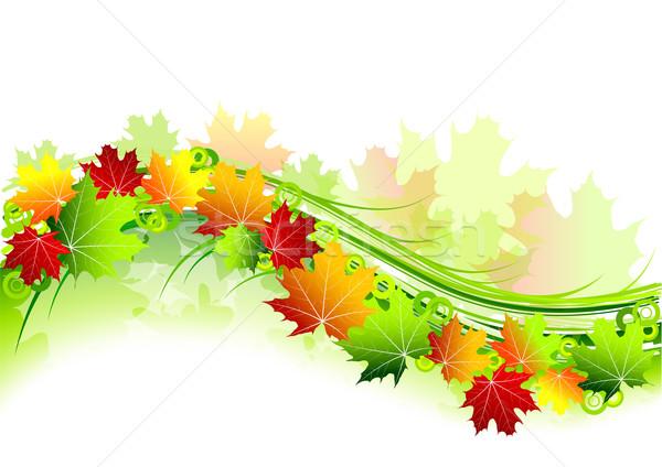 осень природы лист искусства красный обои Сток-фото © vlastas