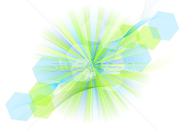 Blauw groene explosief witte partij ontwerp Stockfoto © vlastas