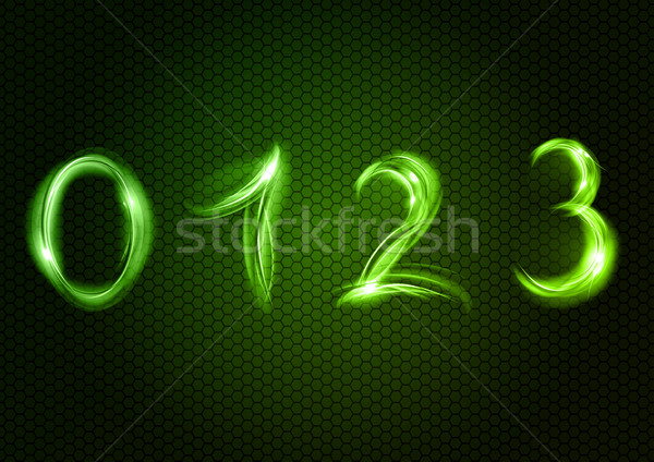 Abstrato zero um dois três verde Foto stock © vlastas