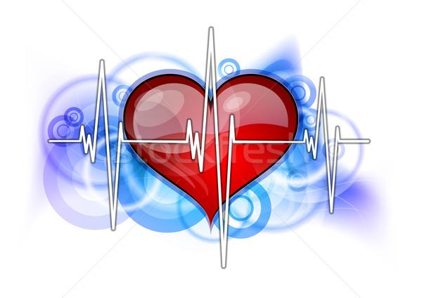 красный сердце белый технологий медицина Сток-фото © vlastas