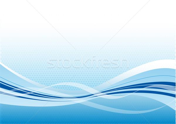 свет вектора синий волны воды дизайна Сток-фото © vlastas