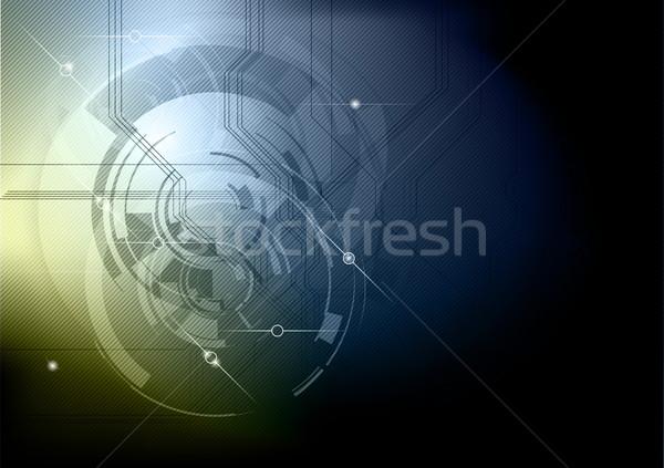 Abstract tech Blauw goud computer internet Stockfoto © vlastas