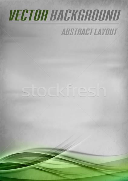 Verde modelo vetor abstrato amostra texto Foto stock © vlastas