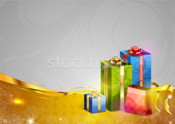 贈り物 金 グレー スペース 幸せ 冬 ストックフォト © vlastas