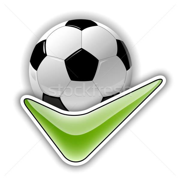 Футбол символ футбола зеленый вызывать знак Сток-фото © vlastas