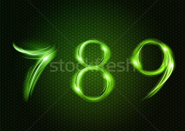 аннотация семь восемь девять зеленый номера Сток-фото © vlastas