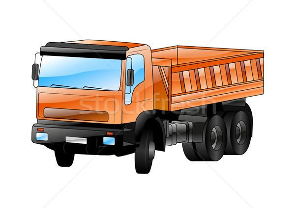 Grande caminhão isolado branco carro edifício Foto stock © vlastas